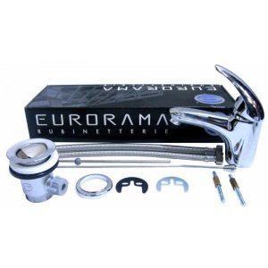 Baterie sanitara monocomanda Eurorama Italia, pentru chiuveta ceramica, lavoar baie, 100% din cupru, garantie 5 ani