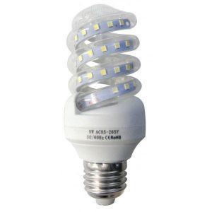Bec LED spirala 9W, E27, lumina rece