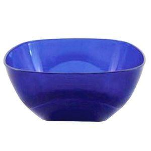 Bol patrat din plastic Nr.4, Cristal, Albastru, 4L