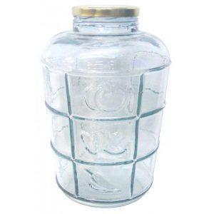 BAX 6 bucati - Borcan din sticla 8.5 litri, cu capac prin infiletare