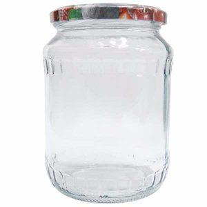 BAX 8 bucati - Borcan din sticla cu capac 1.7L