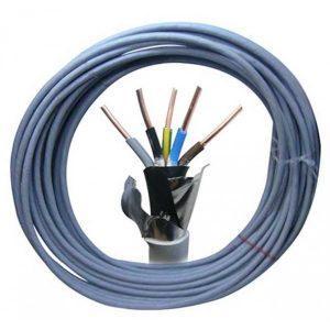 Cablu cupru plin, Cabtec, PVC, subteran, 5x10mm, CYABY-F, 35M