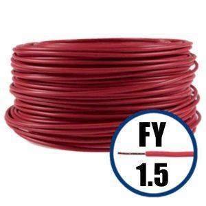 Conductor FY 1.5 - 100 M - ROSU - Cablu curent cupru plin - H07V-U