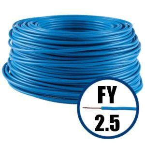 Conductor FY 2.5 - 100 M - ALBASTRU - Cablu curent cupru plin - H07V-U