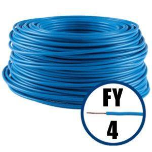 Conductor FY 4 - 100 M - ALBASTRU - Cablu curent cupru plin - H07V-U