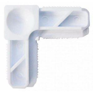 Coltar plastic alb pentru profil - Plase insecte