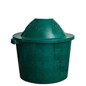 Cos damigeana 54 litri din plastic verde