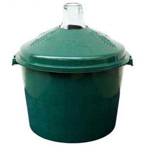 Damigeana 50 litri in cos din plastic verde